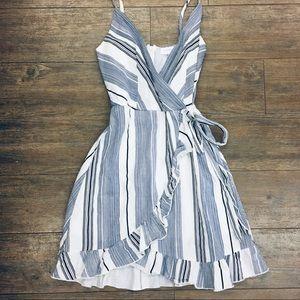 Nectar spaghetti strap wrap style dress S